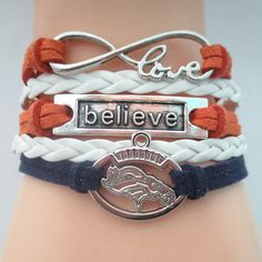 Infinity Love Denver Broncos 2016 B Football Bracelet BOGO