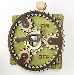 Planetary Gear Light Switch Plate. $39.95, via Etsy. Very cool! Might like have a couple in my house some time.