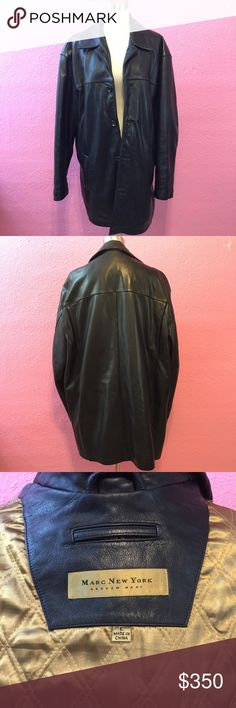 Marc New York Mens Black Leather jacket Marc New York Mens Black Leather jacket Marc New York Jackets & Coats Bomber & Varsity