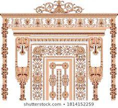 Baroque Design, Border Design, Colorful Decor, Textile Design, Geo, Ethnic, Abstract Art, Royalty Free Stock Photos, Textiles