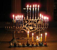 The fourth night of Hanukkah.