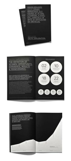 An annual report for Celtic Explorations, 2009/2010. Designed at Foundry Communications