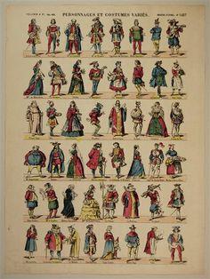 Personnages et Costumes variés. Imagerie d'Épinal. No. 1487.
