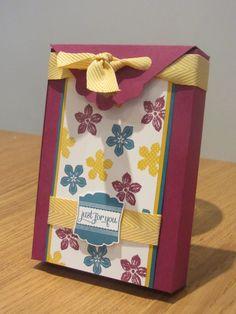 CraftyCarolineCreates: Stampin Up UK, Handmade Card Gift Box Set - Tutorial and FREE INK!