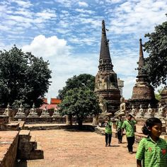 Hot and humid day at Wat Phra Si Sanphet. Students on an educational outing are among the throng of tourists at the historic site.  Follow @bfowbtravel for more travel pics and stories. 📸: @sandymiguelph Travel Pics, Travel Pictures, Blue Forest, Hot And Humid, Historical Sites, Students, Education, Day, Boots
