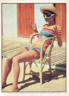 Audrey Hepburn on the French Riviera