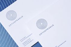 Orthoprague - Corporate visual identity by Dynamo design, photo of printed realization by w:u studio Visual Identity, Paper Design, Cards Against Humanity, Graphic Design, Studio, Printed, Corporate Design, Studios, Prints