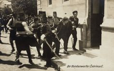 Arrest of Ferdinand Behr ( captioned as Gavrilo Princip)