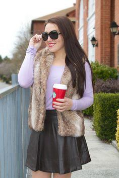 Prince Charming Can Wait Fur Vest at Juliana's Boutique- shopjulianas.com