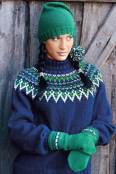 Ladies' Sweater With Hat & Mittens pattern Knitting Patterns, Crochet Patterns, Sweater Hat, Ravelry, Mittens Pattern, Knit Crochet, Winter Hats, Sweaters For Women, Beanie