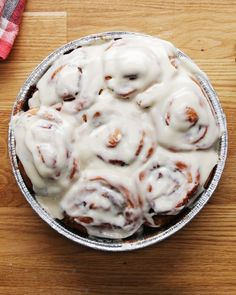 Homemade Cinnamon Rolls with TODAY Food - May want to bake sitting in lined sheet pan in case they bubble over.