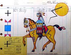 Ledger Drawings of Horses | Ledger Art Series