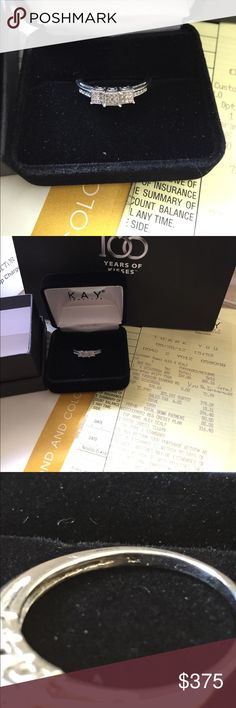 🎉SALE🎉Kay jewelers diamonds ring 1/10 total diamond weight. 10k white gold. Size 8.25 brand new never worn comes with paperwork and is warrantied for life.🎉sale won't last long🎉 Kay Jewelers Jewelry Rings