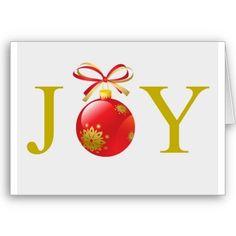 Gold Joy Christmas Card