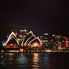 Opera de Sydney volviendo en el ferry de Manly Beach.