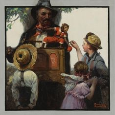 Norman Percevel Rockwell [1894-1978] was a 20th century American painter and illustrator. His works enjoy a broad popular appeal in the United States, where Rockwell is most famous for the cover illustrations of everyday life scenarios he created.