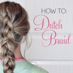 This weeks tutorial is for all those who requested a Dutch Braid Tutorial. I love wearing my hair in a pulled apart dutch braid! So boho and fun!