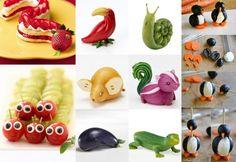 Koken met kinderen: eetbare dieren | VTM Koken All Kids, Food Crafts, Cooking With Kids, Creative Food, Food Design, Food Hacks, Food Art, Kids Meals, Healthy Snacks