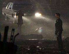 """Emilie & Colin filming a scene for 4x13 """"Unforgiven"""" (December 11, 2014)"""