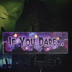 Halloween If You Dare LED Sign #hiddentreasuresdecorandmore
