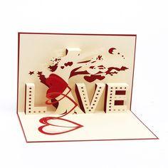 Papier Spiritz Love Tree Post Karte 3D Pop up Postkarten