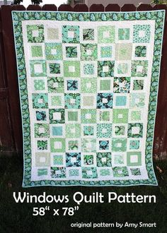 Favorite  Like this item?    Add it to your favorites to revisit it later.  PATTERN - Windows Quilt