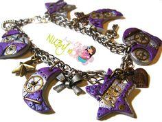 Purple Steampunk bracelet by *colourful-blossom on deviantART