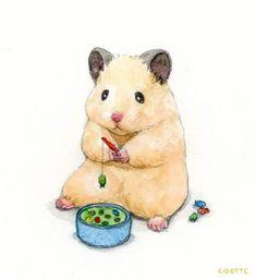 Cute Animal Drawings, Cute Drawings, Pollo Animal, Hamster Live, Cute Hamsters, Dibujos Cute, Cute Doodles, Cute Baby Animals, Aesthetic Art
