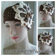 ~ #CROCHET 1 HAT DAILY! ** ~ Day 353** AWE!Some Crochet by Gina Renay ImaGINAtions To purchase, send inquiry to ginarenay@yahoo.com