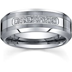 <li>Men's diamond comfort fit wedding band</li><li>Tungsten carbide jewelry</li><li> <a href='http://www.overstock.com/downloads/pdf/2010_RingSizing.pdf'><span class='links'>Click here for ring sizing guide</span></a></li>