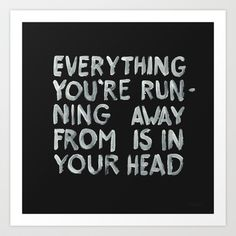 In your head Art Print by WRDBNR - $17.00