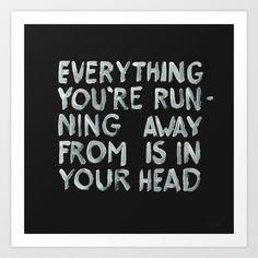 In your head Art Print by WRDBNR - $17.00