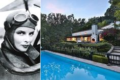 Katharine Hepburn's Los Angeles Hacienda - Private Hideaway The discreet haven silver screen star Katharine Hepburn once rented just went on the market for a cool $7.4 million. The Coldwater Canyon, L.A. home looks straight out of a Nancy Meyers movie, with flagstone patios, rustic wood beams, and Spanish-style tiling throughout. Click ahead for a closer look.