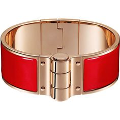 Hermès Charniere Uni Bracelet (38.065 RUB) ❤ liked on Polyvore featuring jewelry, bracelets, hinged bracelet, rose jewelry, enamel jewelry, bracelets bangle and bangle bracelet