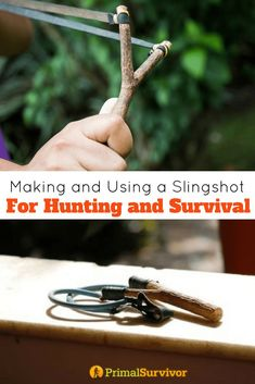 Making and Using a Slingshot Bow For Hunting and Survival situations. #slingshot #catapult #DIY #survival #huntings #preppers #selfdefense #shtf #primalsurvivor