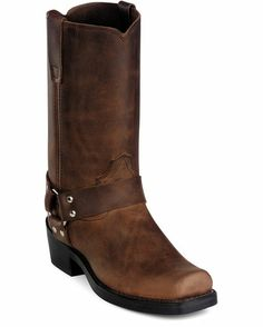 Womens 10 Western Classic Harness Boots - Brown