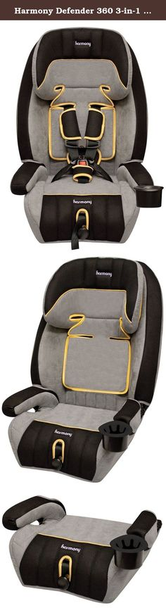 Harmony Defender 360 3-in-1 Booster Car Seat, Pirate Gold. The Harmony Defender 360 3-in-1 Convertible Car Seat is the ideal solution for transporting your child. This premium 3-in-1 car seat is comfortable and easy to use. It comes packed with plenty of convenient features including a no-rethread harness height adjuster, a unique infinite recline and an ultra-plush premium micro suede seat pad. This Harmony Defender 360 3-in-1 Combination Car Seat converts to both a high back and…