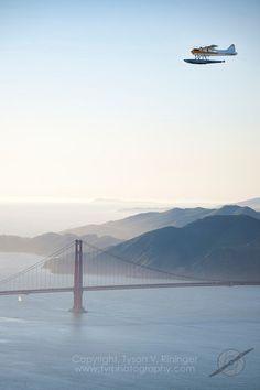 de Havilland Beaver over Golden Gate Bush Pilot, American Stock, Air India, Online Travel, Park Homes, Summer Bucket, Big Sky, Greatest Adventure, Travel Abroad