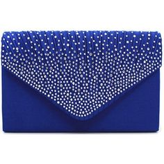 Women Sparkling Rhinestone Frosted Evening Clutch Purse ($16) ❤ liked on Polyvore featuring bags, handbags, clutches, handbags purses, man bag, blue handbags, hand bags and evening clutches
