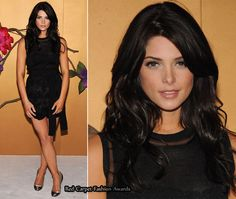 Ashley Greene in D&G tank and skirt