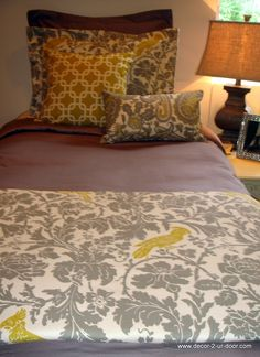 Gray And Yellow Bedding!