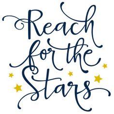 Silhouette Design Store - View Design #119555: reach for the stars phrase