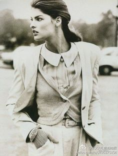 Linda in Vogue UK, Dec 1987.