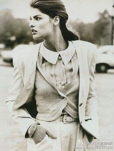 #vintage Linda Evangelista Vogue UK, December 1987 #thesupers
