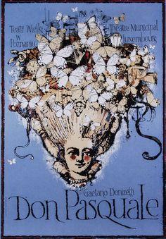 Don Pasquale, Donizetti, Polish Opera Poster: Polish Posters Shop Ryszard Kaja