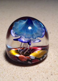 Under The Sea marble-paperweight nautical fantasy