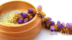 Květinový náramek, Svatební náramek, Charm náramek, Tulipánské šperky, Lilařské šperky, Květiny, Dárky pro ni, Svatební šperky, Dárkové výročí, Poymerové jílovité šperky, Fimo šperky
