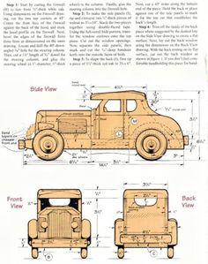 #767 Wooden Deuce Coupe Plan - Wooden Toy Plans