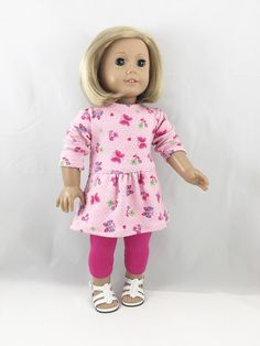 18 Inch Doll Clothes Fits American Girl Pink and by dressurdolly2