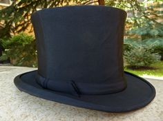 Vintage Silk Top Hat  Magician  Collapsible Top Hat  by modalabode
